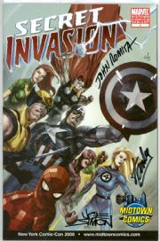 Secret Invasion #1 Variant Dynamic Forces Signed Stan Lee John Romita Joe Simon DF COA Ltd 5 Marvel